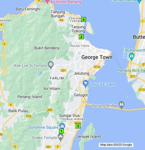 Map Of Secret Recipe Restaurants In Penang Google My Maps