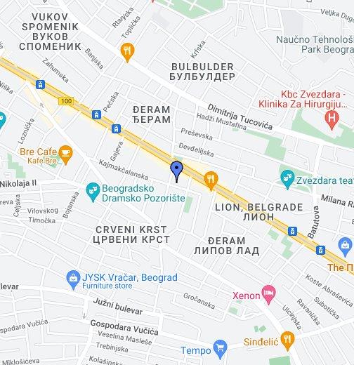 elektronska karta beograda Elektronska mapa Beograda   Google My Maps elektronska karta beograda