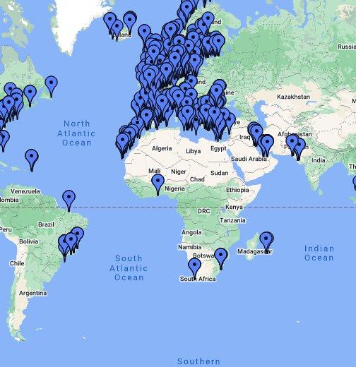 Marine trafic - Google My Maps