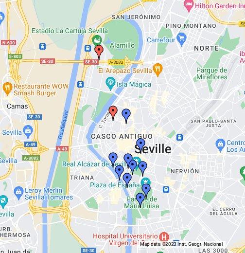 Espana Sevilla Google My Maps