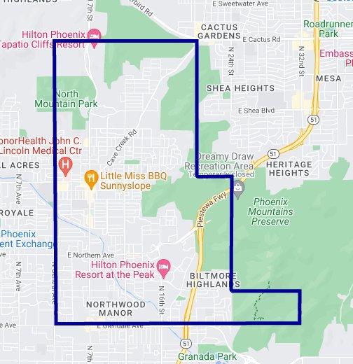 85020 Zip Code Map Phoenix Arizona Google My Maps