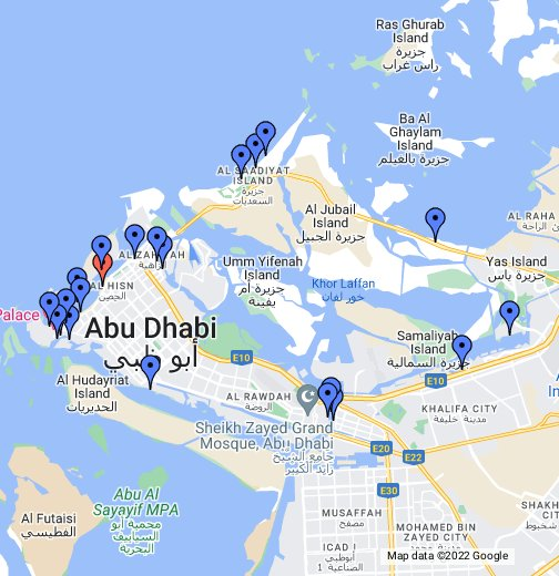 A guide to Abu Dhabi\'s beaches - Google My Maps
