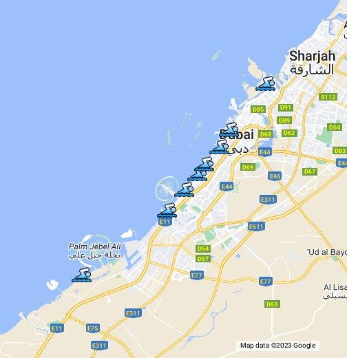 Dubai Beaches - Google My Maps on