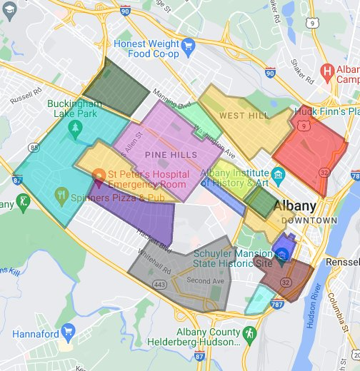 Albany Neighborhoods - Google My Maps