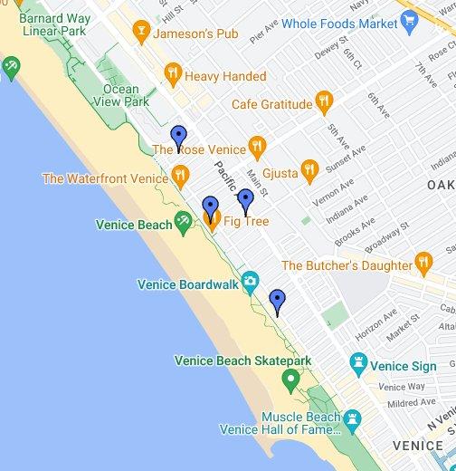 Venice Beach Collection - Venice beach boardwalk map