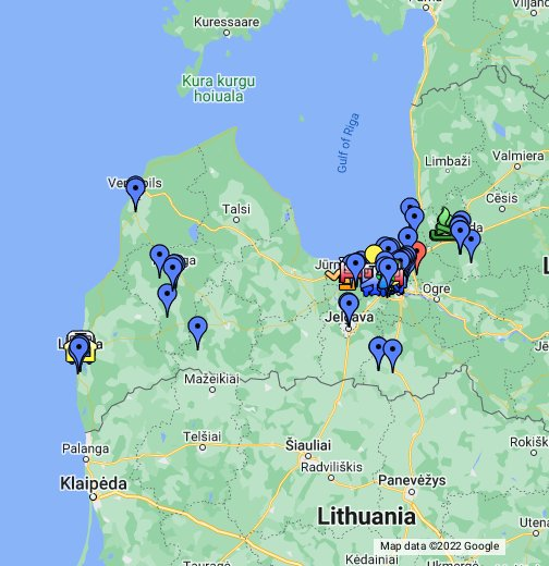Latvia Map With Links - Vilnius maps google