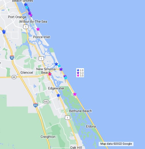 New Smyrna Beach Fl Hotels Map Rates Hotel Reviews Deals Google My Maps