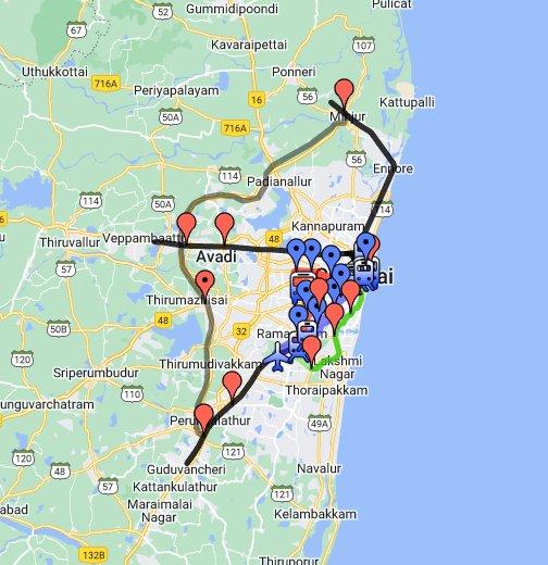 Chennai Metro Map   Google My Maps