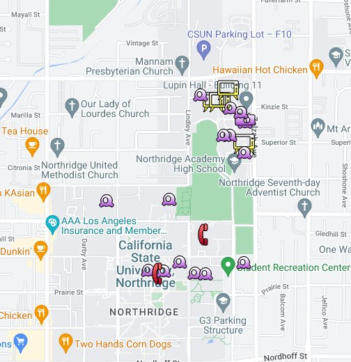 Electronic Device Theft at CSUN, Spring 2010 - Google My Maps