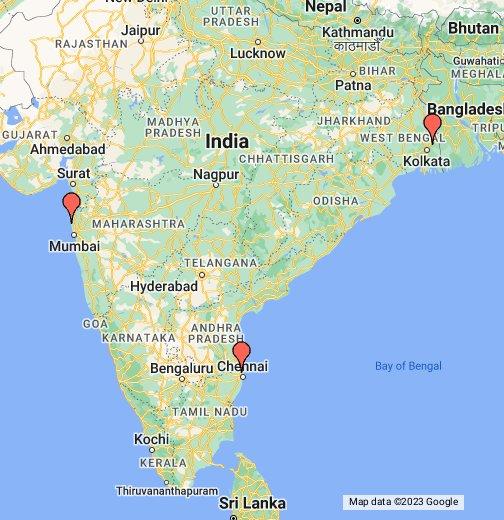 Maps In Chennai Mumbai, Kolkata, Chennai   Google My Maps