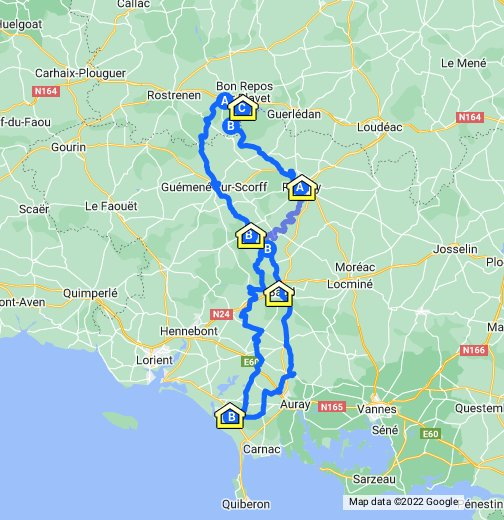Carnac or Bust - Google My Maps