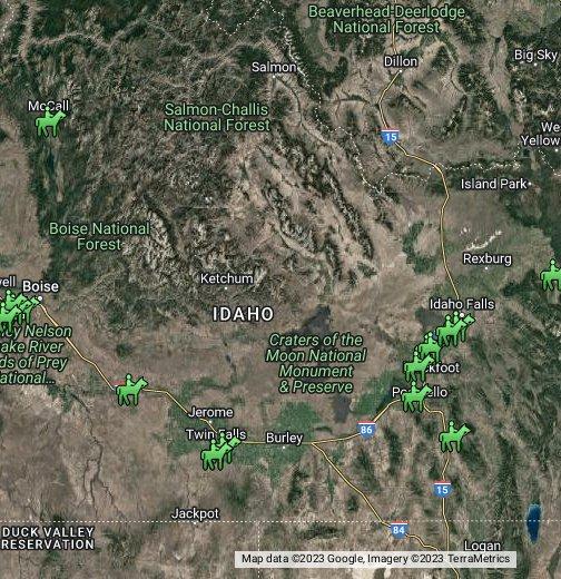 Idaho - Idahoe map