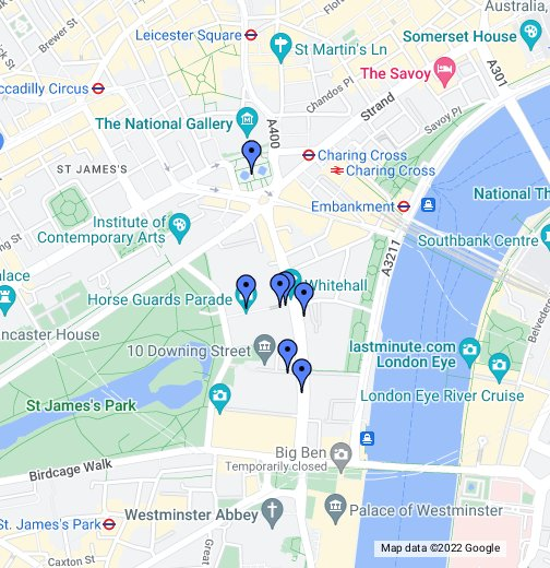 Whitehall Walk - Google My Maps on