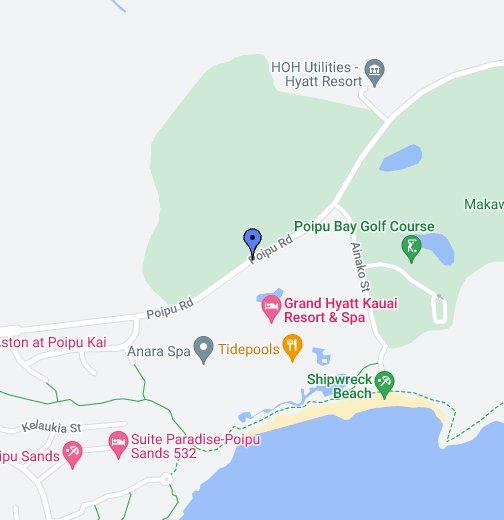 Grand Hyatt Kauai Resort & Spa - Google My Maps on kin map, kawasaki map, martin map, waldorf map, sacred ridge site map, iwate prefecture map, iwaizumi map, baldwin map, marshall map,