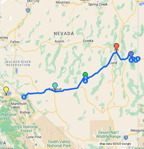 Nevada - U.S. Route 6 - Google My Maps on satellite view of nevada, regional map of nevada, satellite map of nevada, topo map of nevada, encyclopedia map of nevada,