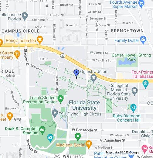 map of fsu campus Fsu Campus Locations Google My Maps map of fsu campus