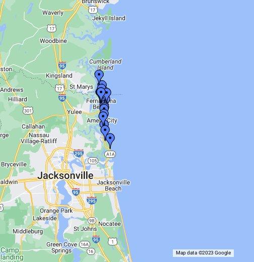 Amelia Island Florida Map.Amelia Island Florida 32034 Interactive Map Google My Maps
