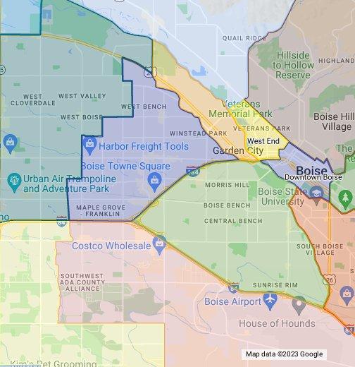 Boise ID Neighborhoods Map