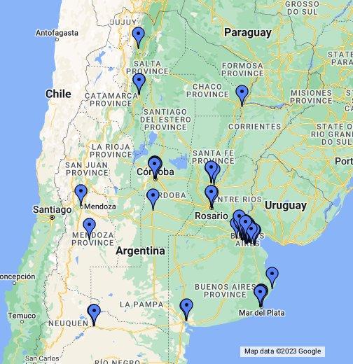 McDonalds Argentina - Argentina map google