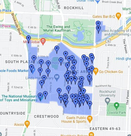 University Of Missouri Kansas City Google My Maps