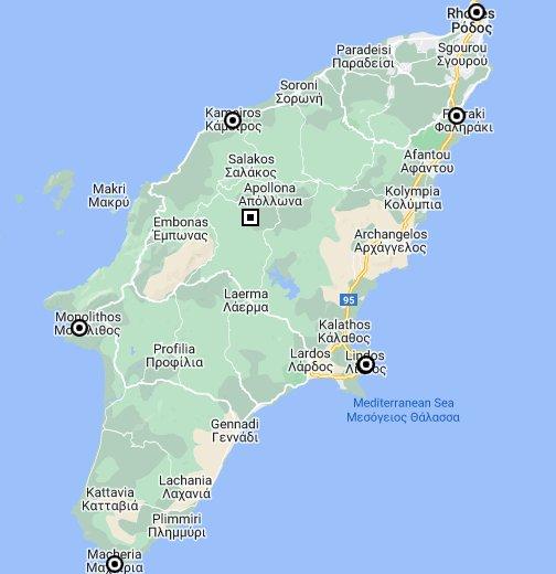 Rhodos Karte Faliraki.Rhodes Google My Maps