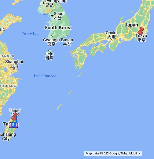 Taiwan Japan - Japan map data