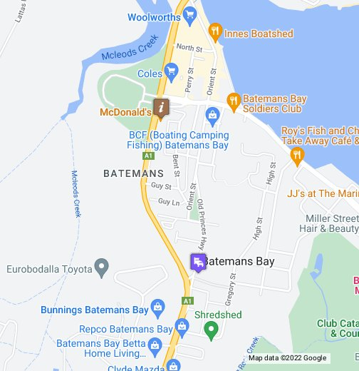 Map Of Batemans Bay Google My Maps Places to visit in batemans bay. map of batemans bay google my maps