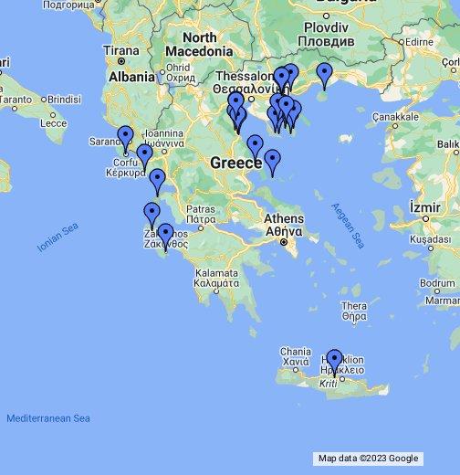 grcka mapa google Grčka   Letovanje   Google My Maps grcka mapa google