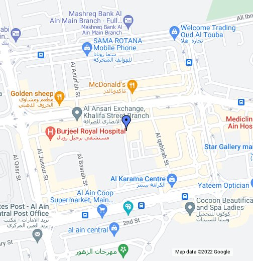 Al Ain Al Falah Plaza Branch - Al ain map
