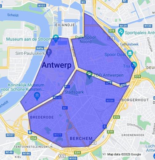 Antwerpen postcodes