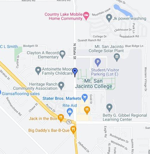 Mt San Jacinto College Google My Maps