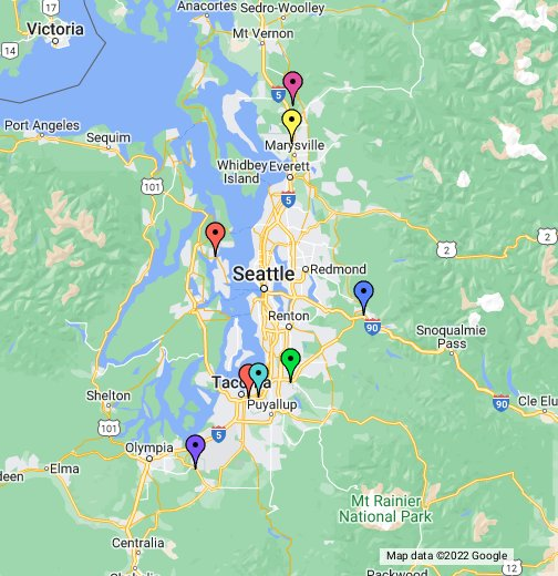 map of indian casinos in washington state