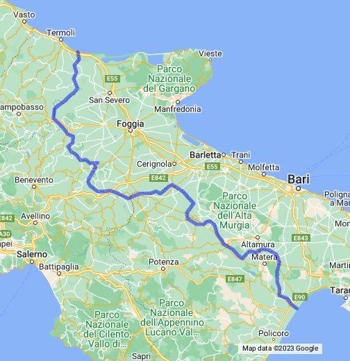 Cartina Puglia Google Maps.La Regione Puglia Google My Maps