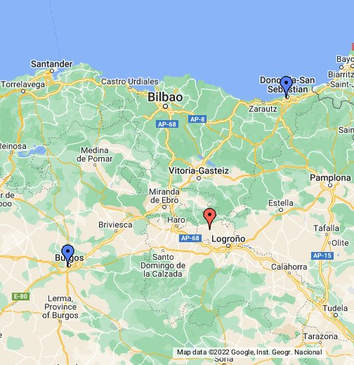 Map Of Spain Eibar.Laguardia Google My Maps