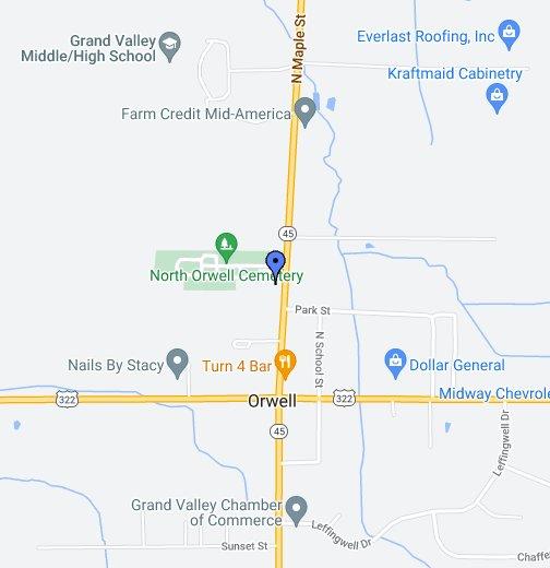 Orwell Ohio Map.Orwell North Presbyterian Church Google My Maps