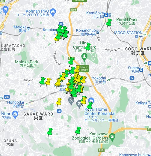 コロ マップ 神奈川
