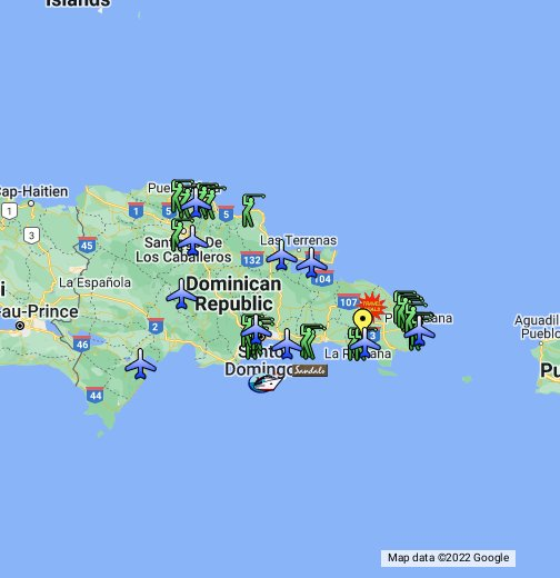Charter Flights To Dominican Republic - Google My Maps