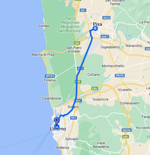 Map Of Italy Showing Pisa.Livorno To Pisa Italy Google My Maps