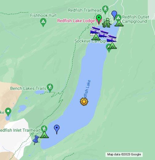 redfish lake idaho map Redfish Lake Id Google My Maps redfish lake idaho map