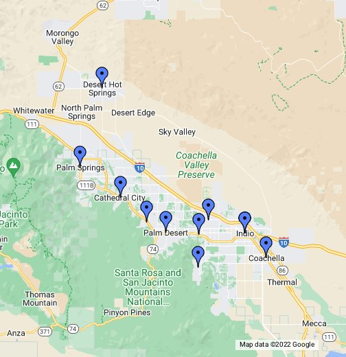 Coachella Valley Cities Google My Maps