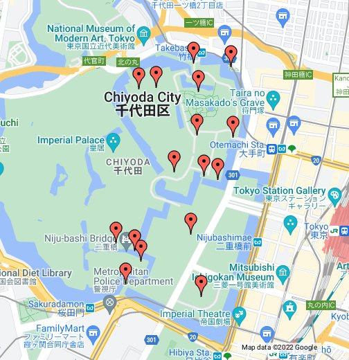 Tokyo Imperial Palace Tour Map - Google My Maps