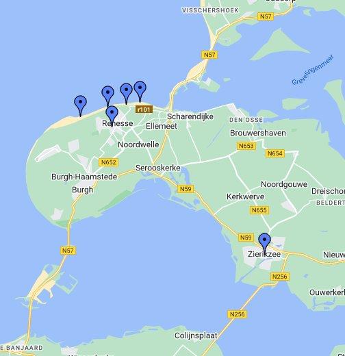 Zeeland Karte Niederlande.Niederlande Renesse 09 2012 Google My Maps