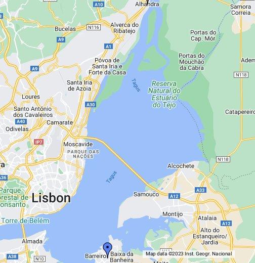 almada mapa google Casa do Benfica do Barreiro   Google My Maps almada mapa google