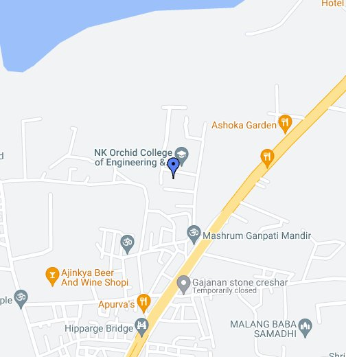 N K Orchid College Of Engineering Technology Solapur - Solapur map