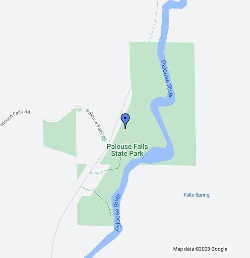 Palouse Falls Washington Map.Palouse Falls State Park Google My Maps
