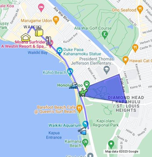 Waikiki Beach Walking Tour Google My Maps