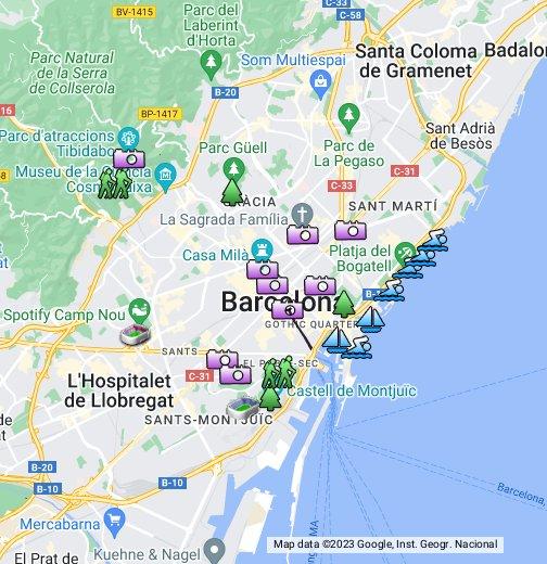 Barcelona Sights - Google My Maps