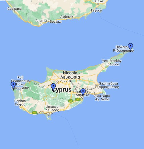 Cyprus - Google My Maps