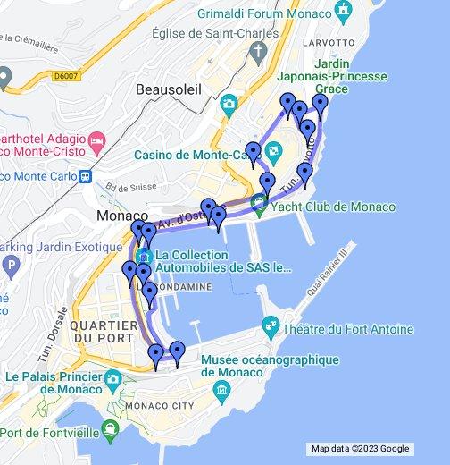 Map Of Monaco Circuit de Monaco   Google My Maps
