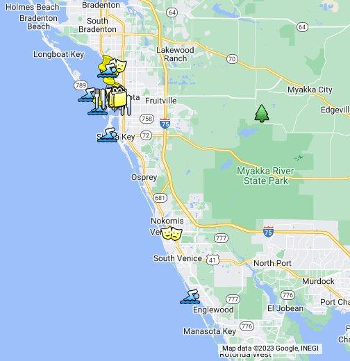 A Map Of Florida Sarasota, FL   Google My Maps